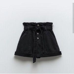 Paperbag Denim Shorts Size 4 NWT